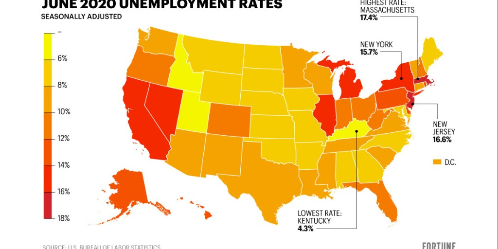 The economy is recovering in some states, but others remain at Great Depression–era unemployment levels. Why?