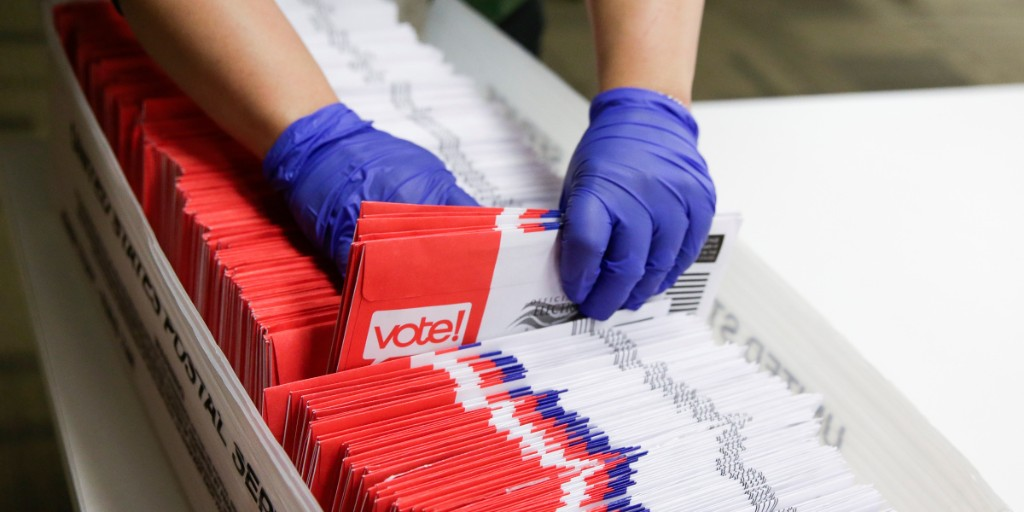 The Republican stance on vote-by-mail is fractured