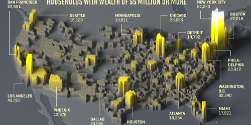See Which U.S. Cities Have the Biggest Number of Millionaires