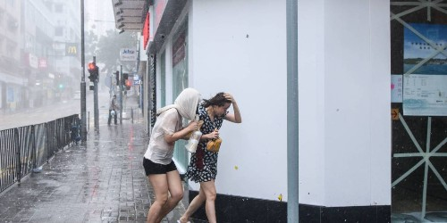 Typhoon Mangkhut Moves Into Mainland China After Lashing Hong Kong