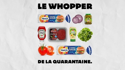 Burger King France gives instructions for making a Whopper using store-bought ingredients