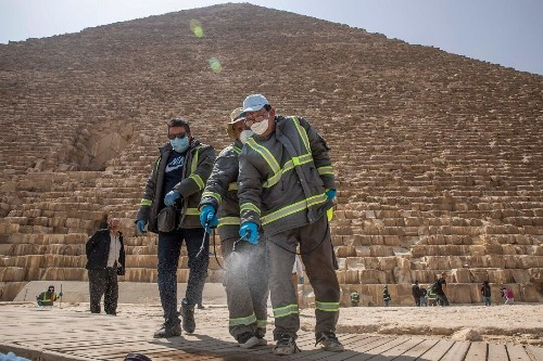 Egypt starts deep-cleaning pyramids as coronavirus keeps tourists away