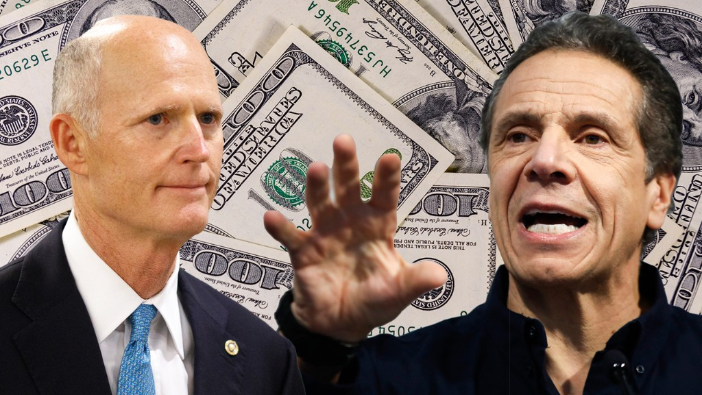 Florida Sen. Rick Scott accuses NY of trying to tax Sunshine State residents to 'backfill' budget