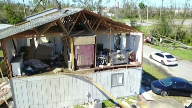 Drone footage shows extensive damage from Hurricane Michael