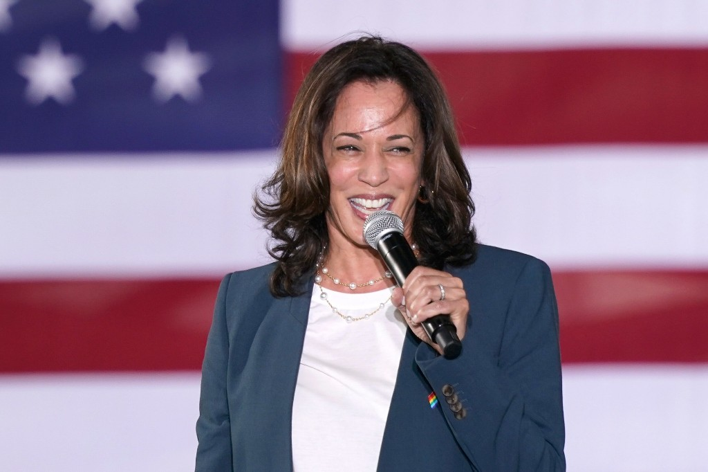 Kamala Harris bursts out laughing when asked if she has socialist perspective