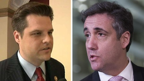Matt Gaetz says he's apologized to Michael Cohen for 'girlfriends' tweet, wants to leave his family 'alone'