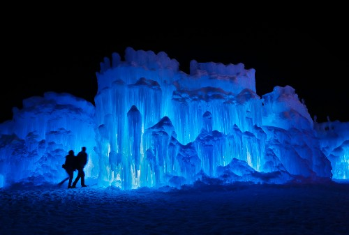 Ice castles turn farmland into winter wonderland