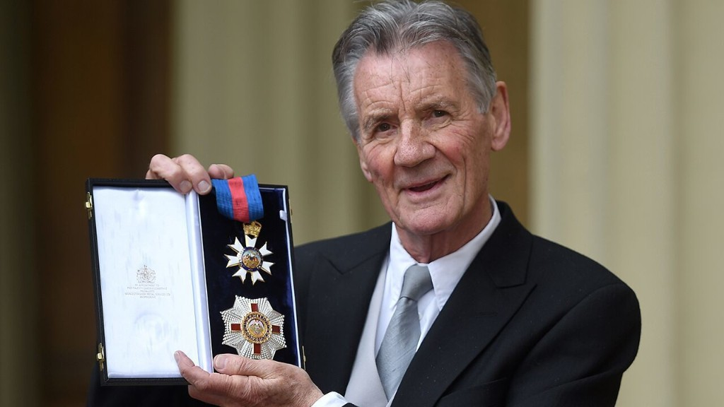 Michael Palin calls for royal honor's insignia bestowed by Queen Elizabeth to be changed due to racist imagery