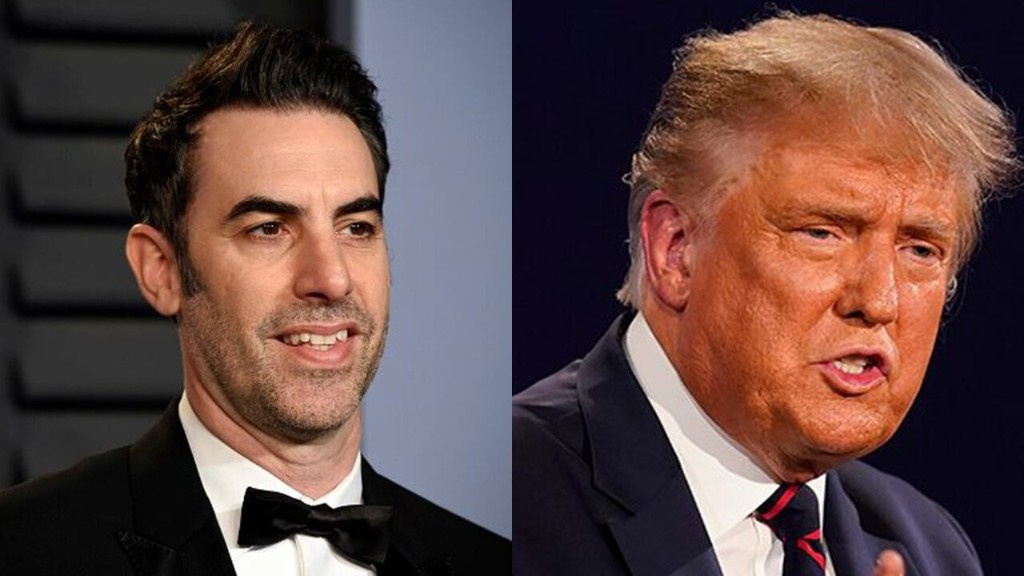 Sacha Baron Cohen uses 'Borat' promotion to mock Donald Trump during debate