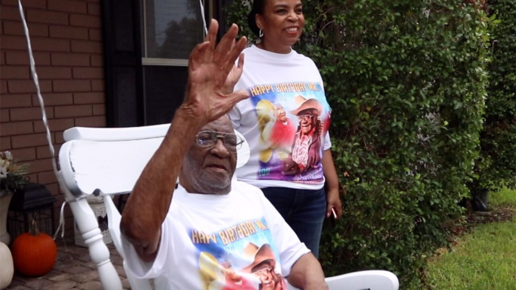 Florida police department celebrates 100-year-old veteran's birthday