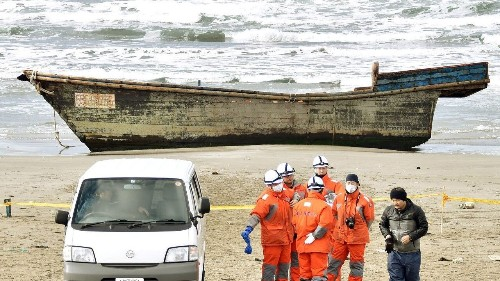 Possible North Korea defectors may be occupants of skeleton-filled ghost ship found on Japan coast