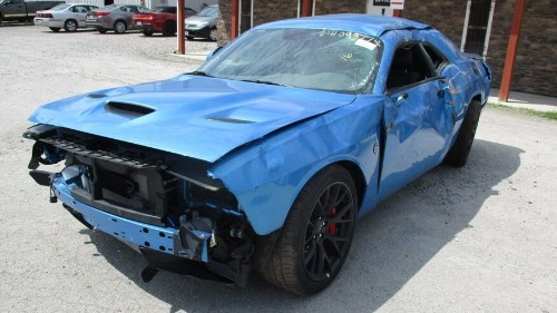 Dodge Challenger SRT Hellcat wrecked after just 18 miles