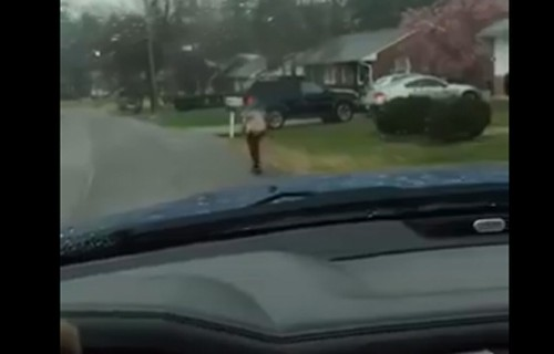 Virginia dad forces 'bully' son, 10, to run to school in rain after being banned from bus
