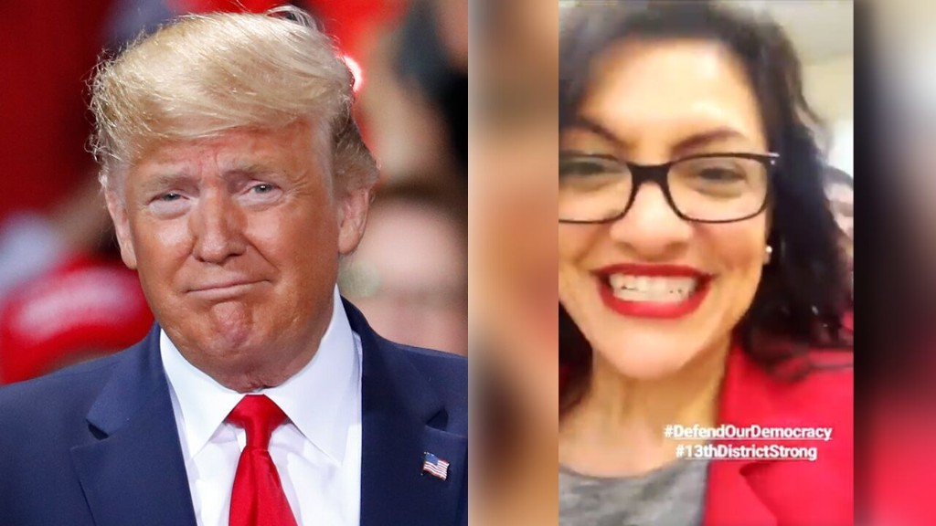 Trump calls out Rashida Tlaib for posting video of herself excitedly walking to impeachment vote