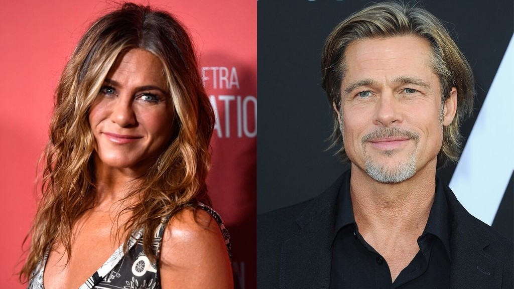 Jennifer Aniston and Brad Pitt spotted reuniting for  table read