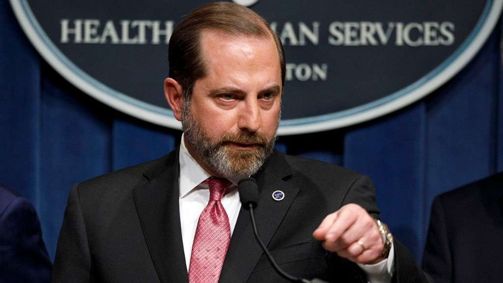 HHS Secretary Azar to be most senior US official to visit Taiwan