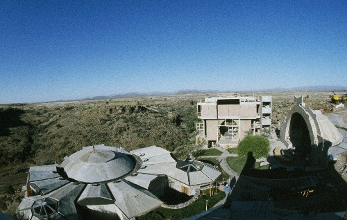 This unfinished Arizona 'futuristic hippie commune' has a problem