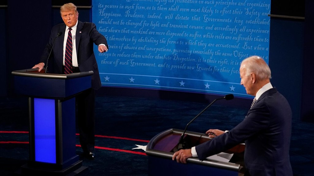 Insults fly as Trump, Biden tussle at first showdown, moderator works to keep order