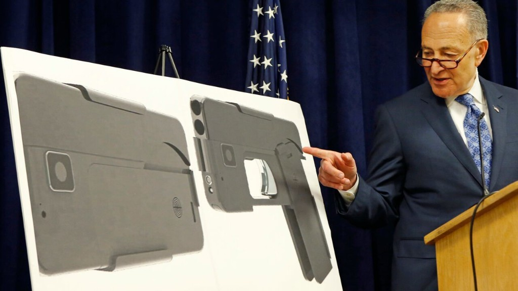 Schumer calls for investigation of folding gun that resembles smartphone