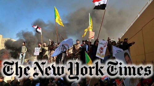NY Times tweet on 'Iraqi mourners' storming Baghdad embassy prompts backlash online