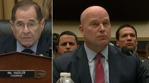 Hearing erupts as Acting AG Whitaker calls time on Dem chairman: 'Your 5 minutes is up'