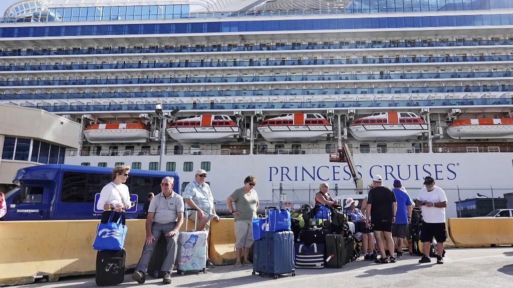 Third Princess cruise ship kept at sea pending coronavirus tests