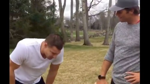 Tom Brady scolds Rob Gronkowski for partying too much in new video
