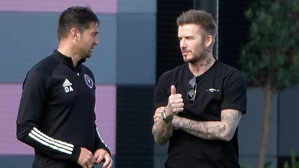 David Beckham's Inter Miami FC alters team logo to encourage social distancing