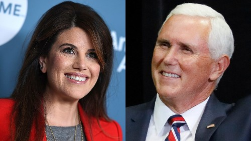 Pence mocked by Monica Lewinksy for saying 'spend more time on your knees than on the internet'