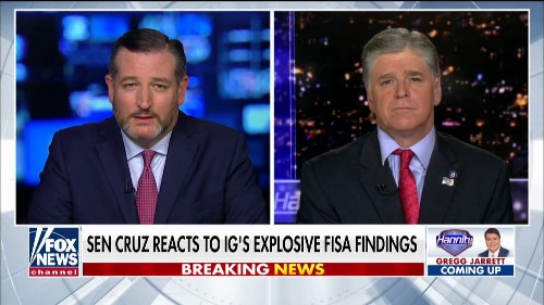 Ted Cruz: Horowitz report shows FBI was 'utterly negligent' at best, 'complicit' in abuse of power at worst