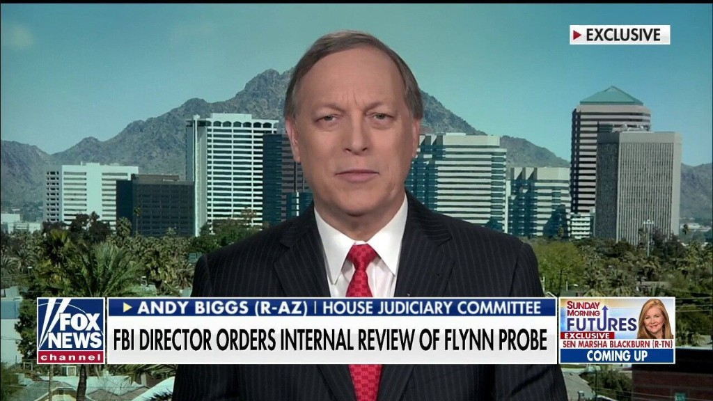 Rep. Biggs: FBI Director Wray opening internal review into how bureau handled Flynn case is 'long overdue'