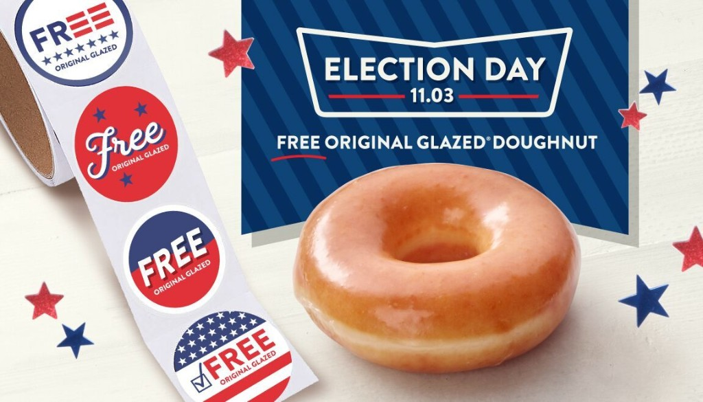 Here's where voters or poll workers can get free or discounted food on Election Day