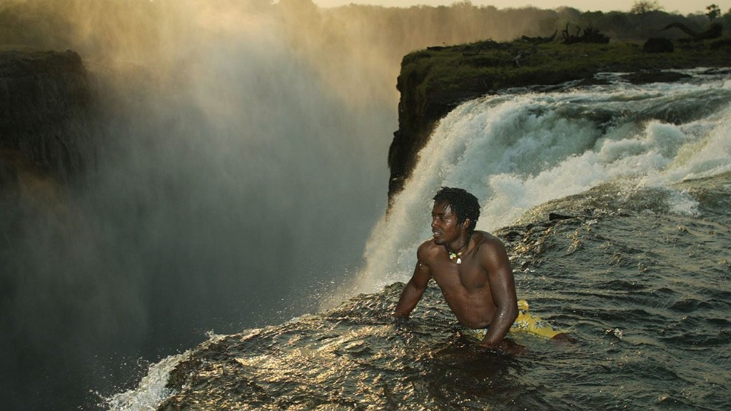 The 'Devil's Swimming Pool' on the edge of Victoria Falls is for adrenaline junkies only