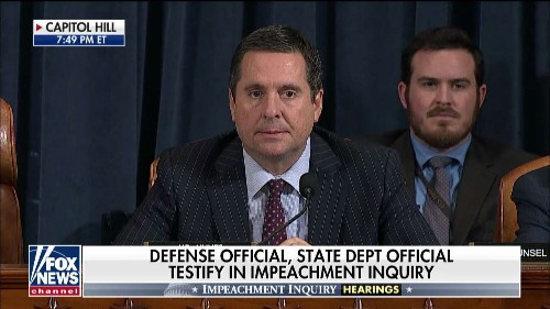 Nunes slams impeachment 'three-card monte,' then yields to Schiff for 'storytime hour'