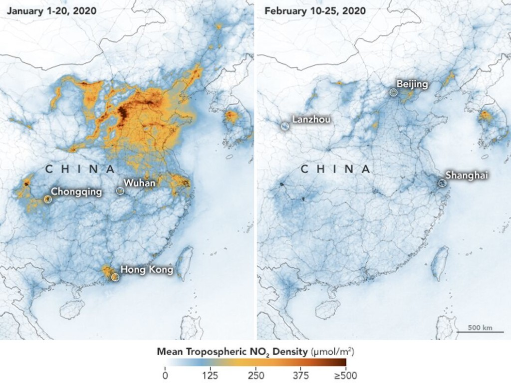 Satellite images show how pollution has changed in China after COVID-19 lockdown