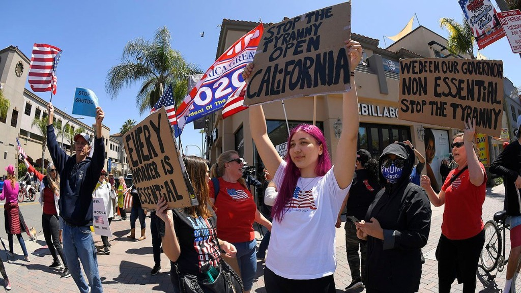 California protest erupts over state's coronavirus stay-at-home rules