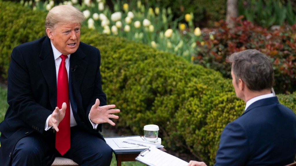 Trump says coronavirus relief bill will boost economy to pre-pandemic level