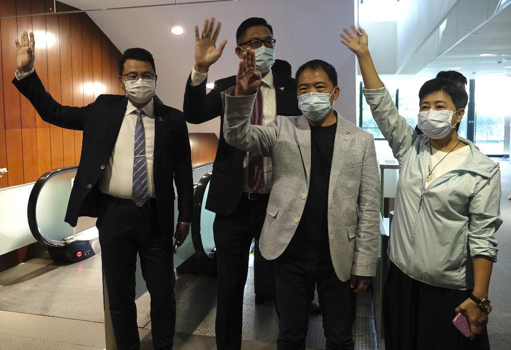 Hong Kong pro-democracy legislators hand in resignations