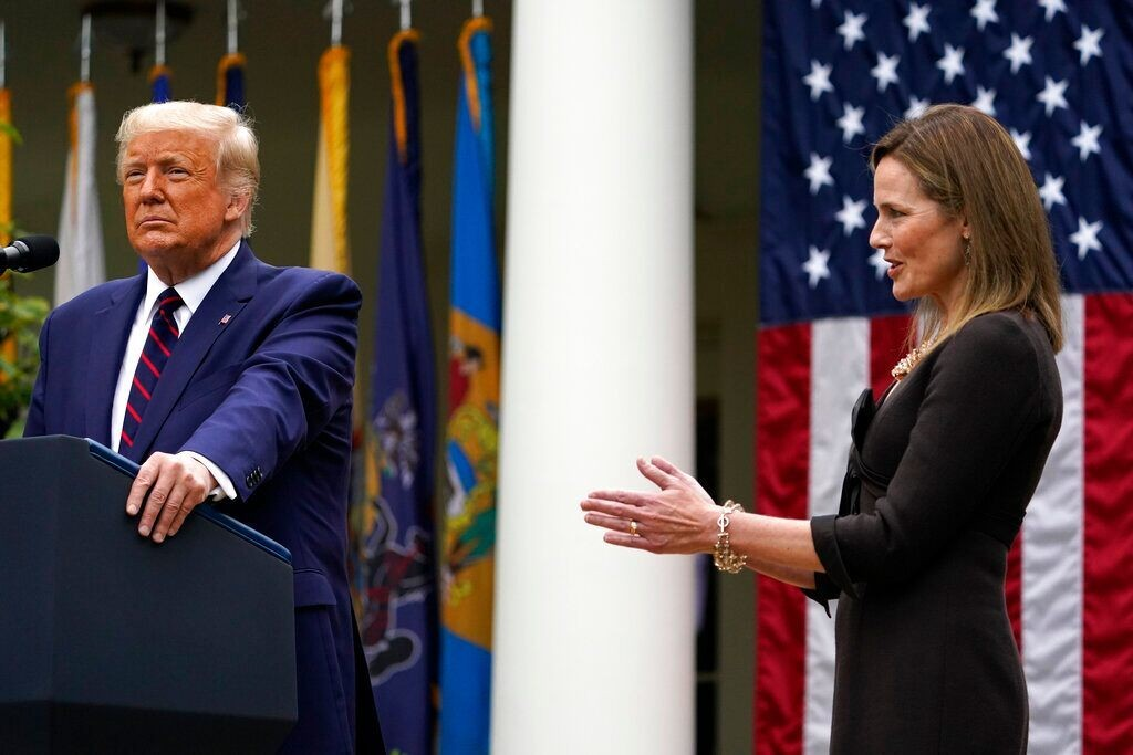 Amy Coney Barrett accepts Supreme Court nomination