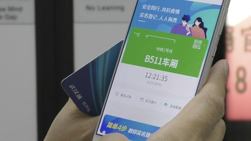 Green coronavirus symbol on Chinese smartphones required to commute in Wuhan