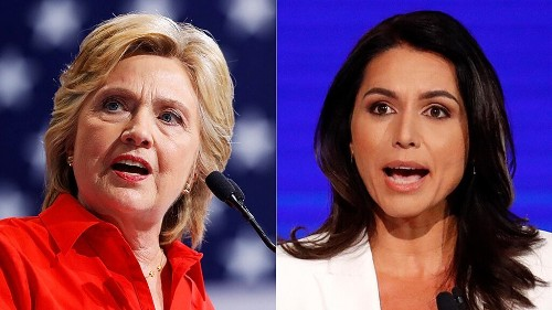 Gabbard dares Clinton to run for president in 2020, fights back against assertions that she is a Russian asset