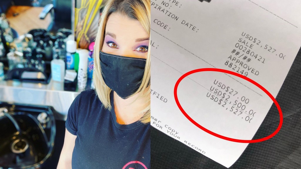 Anonymous customer at barbershop leaves massive tip for hairstylist, staff