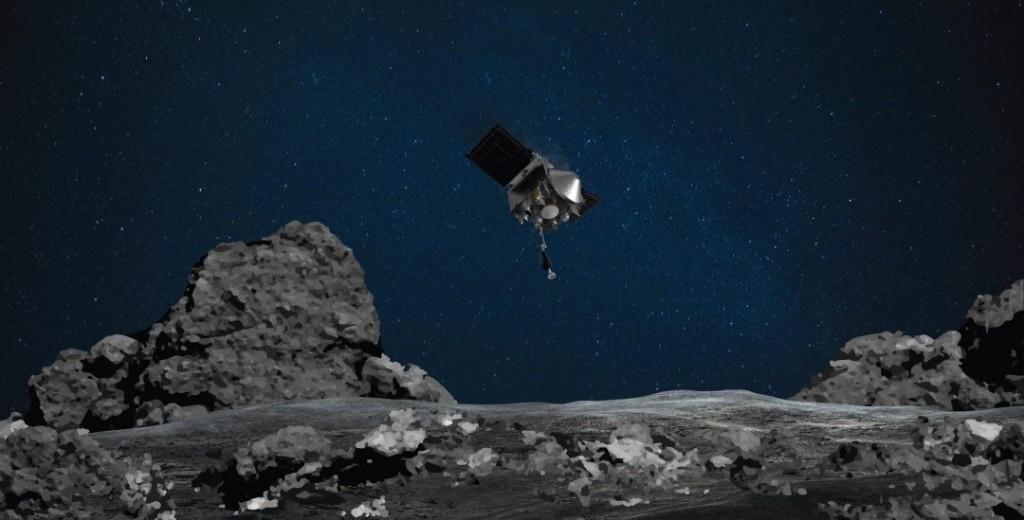 NASA's OSIRIS-REx spacecraft makes historic touchdown on asteroid Bennu