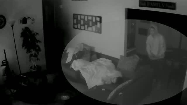 Intruder enters Kansas home, stands over sleeping teenage girl, video shows