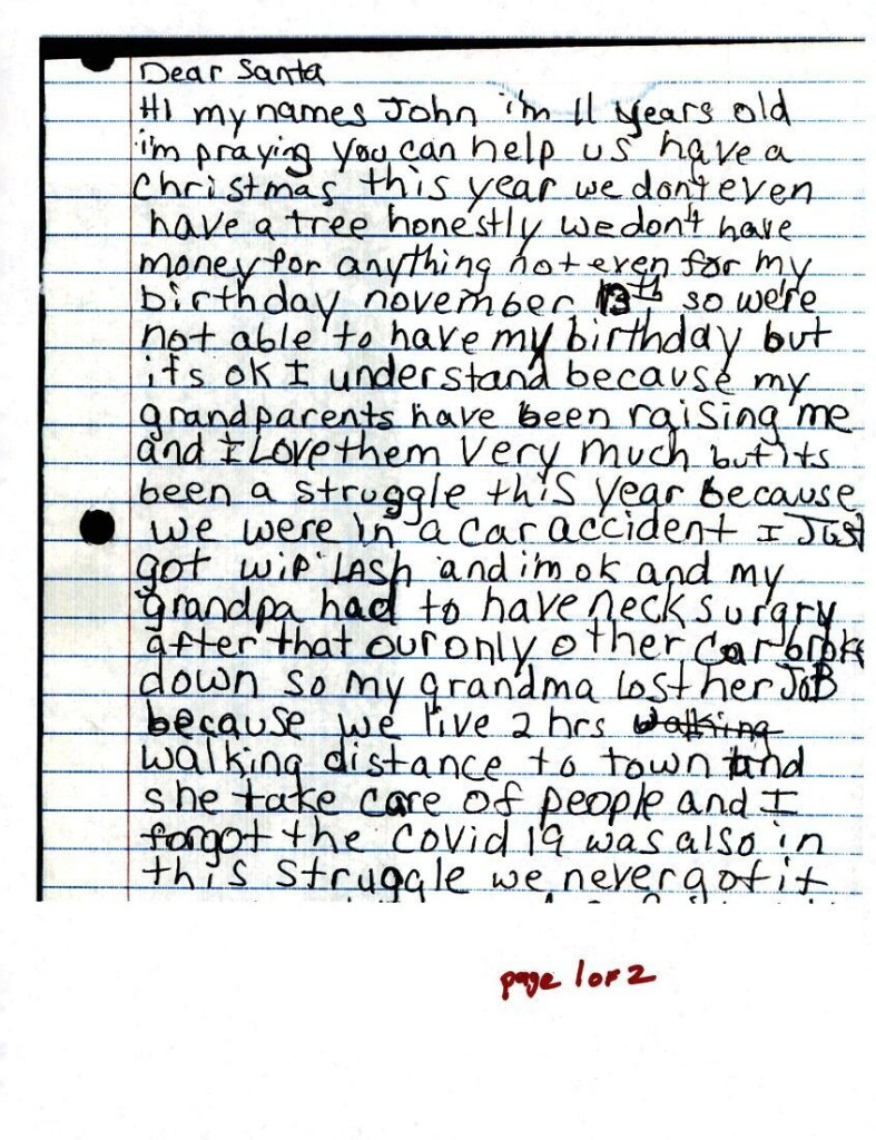 USPS Operation Santa letters detail pandemic's impact on children before Christmas