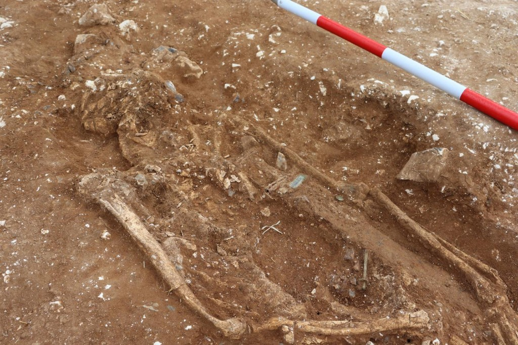 Ancient warlord's skeleton and sword discovered after 1,400 years