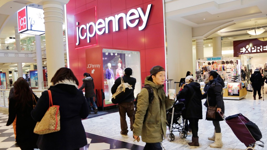 J.C. Penney Holiday Sales Fall, Shares Slide
