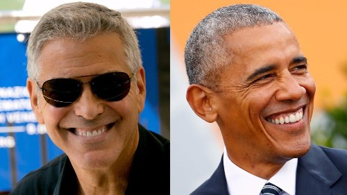 George Clooney says he sends racy texts to President Obama