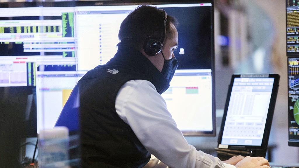 US stock futures waver after turbulent session