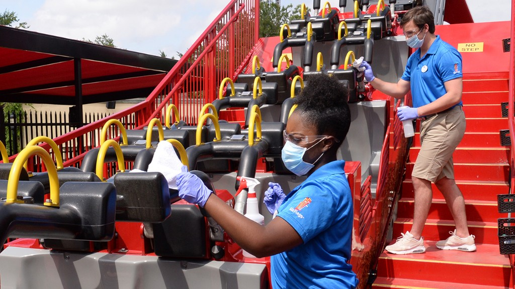 Six Flags to reopen first theme park, implement new safety measures